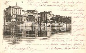 1900 VERBANIA PALLANZA Approdo del battello *Cartolina FP VG