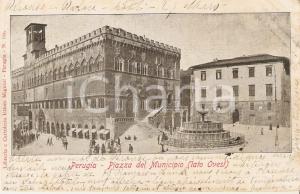 1903 PERUGIA Lato ovest di Piazza del Municipio *Cartolina FP VG