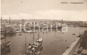 1925 ca NAPOLI Panorama con l'Immacolatella *Cartolina FP NV
