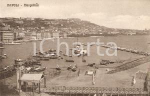 1925 ca NAPOLI Panorama del porto di MERGELLINA *Cartolina FP NV