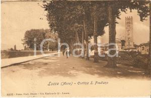 1910 MURA DI LUCCA In bicicletta sulla Cortina di San Frediano *Cartolina FP VG
