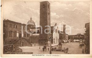 1922 PIETRASANTA (LU) Piazza Umberto I *Cartolina ILLUSTRATA FP VG