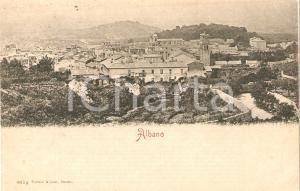 1900 ca ALBANO LAZIALE (RM) Panorama del paese *Cartolina FP NV