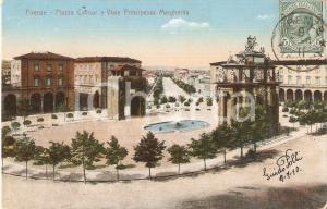 1910 FIRENZE Piazza Cavour e Viale Principessa Margherita *Cartolina FP VG
