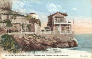 1910 GRIMALDI - VENTIMIGLIA Restaurant des Grottes ai BALZI ROSSI *Cartolina FP