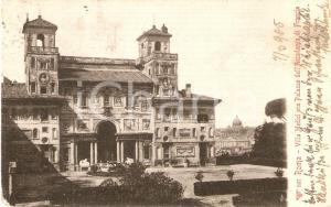 1905 ROMA Villa Medici ora Palazzo dell'Accademia di Francia *Cartolina FP VG