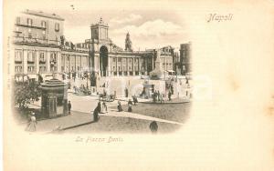 1899 NAPOLI Chioschi e carretti in Piazza Dante *Cartolina FP NV