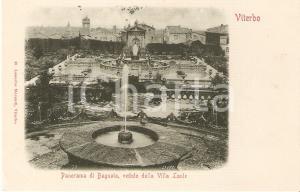 1900 ca VITERBO Panorama di BAGNAIA visto da VILLA LANTE *Cartolina FP NV