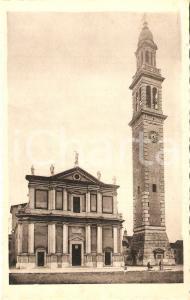 1935 ca LENDINARA (RO) Duomo e campanile di Santa Sofia *Cartolina FP VG