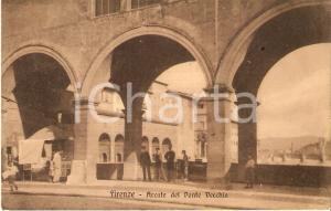 1935 ca FIRENZE Chiosco sotto le arcate di Ponte Vecchio *Cartolina FP NV