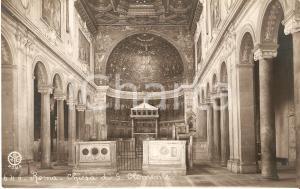 1940 ca ROMA Interno della Chiesa di SAN CELEMENTE *Cartolina FP NV