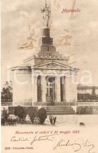1900 ca MONTEBELLO DELLA BATTAGLIA (PV) Monumento ai Caduti *Cartolina FP VG