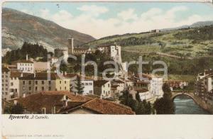1910 ROVERETO (TN) Panorama con il Castello *Cartolina FP VG