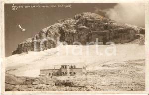 1932 PASSO PORDOI (TN) Rifugio Boè - Timbro Albergo Maria *Cartolina FP VG
