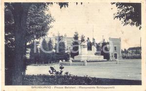 1939 SAVIGLIANO (CN) PIazza Galateri - Monumento Schiapparelli *Cartolina FP VG
