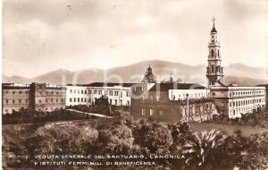 1933 Santuario di POMPEI Canonica e Istituti femminili di beneficenza *Cartolina