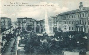 1916 BARI Prima fontana dell'Acquedotto Pugliese in Piazza Ateneo *Cartolina FP