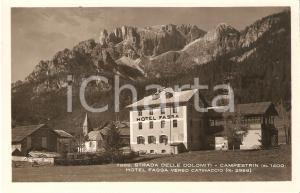 1950 ca CAMPESTRIN (TN) Hotel Fassa verso il Catinaccio *Cartolina FP NV