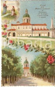 1950 ca CARAVAGGIO Santuario Beata Vergine - Vedutine ILLUSTRATE Cartolina FP NV