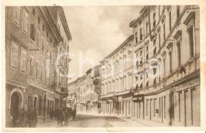 1925 ca GORIZIA Soldati in Via Edmondo de Amicis *Cartolina FP NV