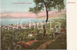 1950 ca SORRENTO Ragazzi guardano panorama da Monte Sant'Antonio Cartolina FP NV
