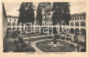 1950 SAVIGLIANO (CN) Ospedale militare - Giardino interno *Cartolina FP VG