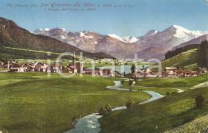 1929 VAL VENOSTA (BZ) Lago San Valentino alla Mura e Gruppo Ortles *Cartolina FP