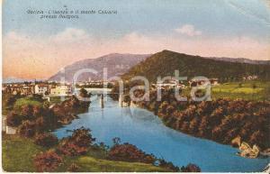 1930 ca GORIZIA Isonzo e Monte Calvario presso PODGORA *Cartolina FP VG