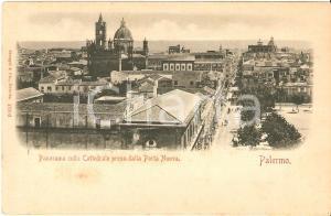 1899 PALERMO Panorama di Porta Nuova con la Cattedrale *Cartolina FP VG