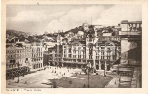 1931 TRIESTE Panorama di Piazza Unità *Cartolina FP VG