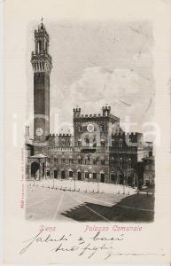 1904 SIENA Panorama con Palazzo Comunale *Cartolina FP VG
