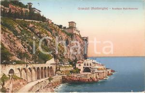 1928 GRIMALDI VENTIMIGLIA Frontiera Italo-Francese *Cartolina FP VG