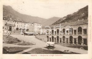 1905 ca SANTUARIO DI OROPA Oreficeria e Caffè Colombino *Cartolina FP VG