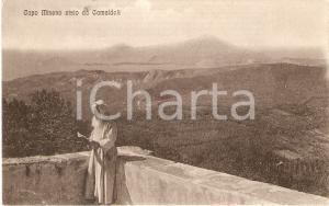 1950 ca EREMO DI CAMALDOLI Monaco guarda CAPO MISENO *Cartolina FP NV
