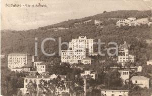 1916 BORDIGHERA (IM) Panorama con ville e alberghi *Cartolina FP VG