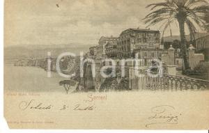 1900 ca SORRENTO (NA) Panorama con Grand Hotel VITTORIA *Cartolina FP VG
