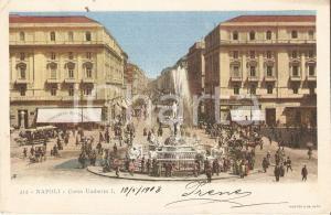 1903 NAPOLI Negozi e passanti in Corso Umberto I *Cartolina FP VG