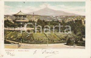 1905 CATANIA Panorama del Giardino BELLINI *Cartolina FP VG