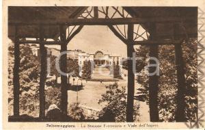 1951 SALSOMAGGIORE TERME Stazione ferroviaria e Viale dell'Impero *Cartolina FP
