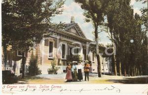 1905 SALICE TERME (PV) Passeggiata nel Parco delle Terme *Cartolina FP VG