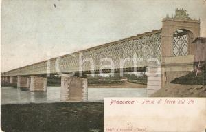 1935 ca PIACENZA Ponte sul fiume Po *Cartolina FP VG