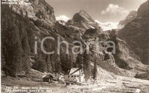 1960 ca TRAFOI - PASSO DELLO STELVIO Tre fontane sacre *Cartolina FP NV