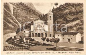1952 MONTEFORTINO (FM) Santuario Maria Santissima dell'Ambro *Cartolina FP NV