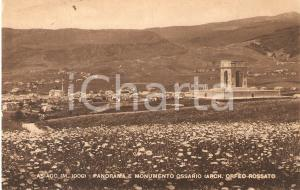 1952 ASIAGO (VI) Monumento ossario - Arch. Orfeo ROSSATO *Cartolina FP VG