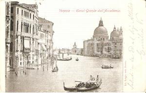 1905 VENEZIA Canal Grande visto dall'Accademia - Gondole *Cartolina FP NV