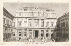 1902 GENOVA Palazzo Ducale - Panorama *Cartolina FP VG