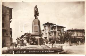1933 BERGAMO Monumento a Giuseppe GARIBALDI *Cartolina FP VG