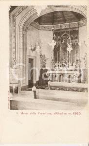 1920 ca CASTIONE DELLA PRESOLANA (BG) Interno Chiesa Santa Maria Cartolina FP NV