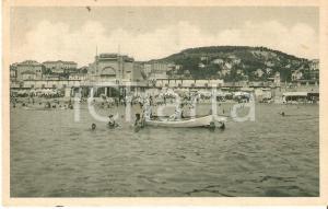 1945 IMPERIA Giochi in barca davanti alla Spiaggia d'oro *Cartolina FP NV