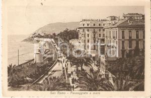 1921 SANREMO (IM) Panorama con RIVIERA PALACE HOTEL *Cartolina FP VG